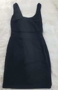 Lulu's Black midi dress size xs